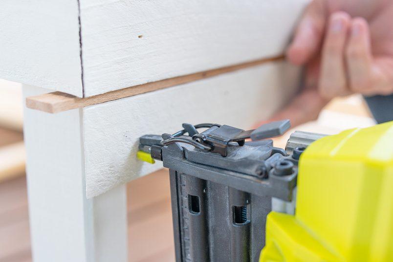 Nailing Cladding To DIY Outdoor Storage Box