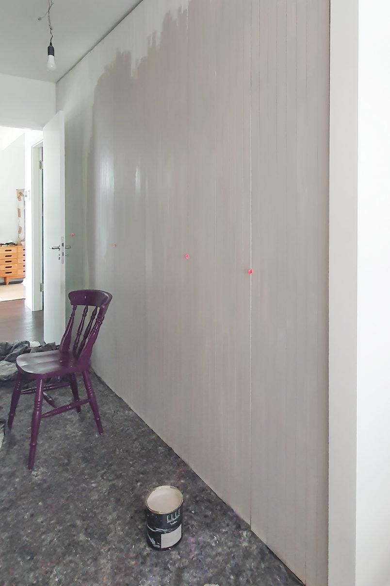 Painting Built-In Pax Wardrobes