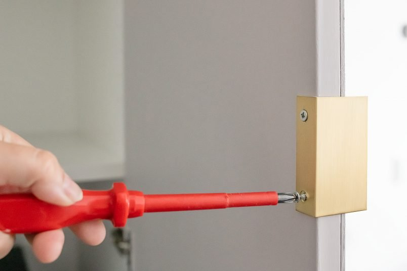 attaching handles to pax wardrobe doors